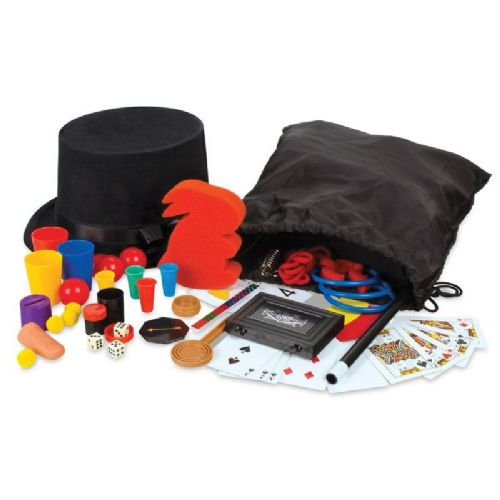 Mega Magic Magician Hat Bumper Box 125 Tricks Rabbit Perform Toy Set Wand Gift